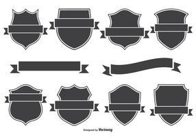 Distintivi di cresta e set di banner vettore
