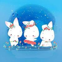 3 animaletti di coniglio