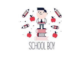 Vettore del ragazzo scuola gratis