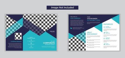 brochure pieghevole tripla per raccolta aziendale vettore