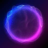 disegno astratto sfera con particelle fluenti vettore