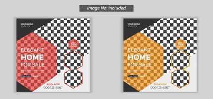 banner pubblicitario modificabile sui social media per il settore immobiliare