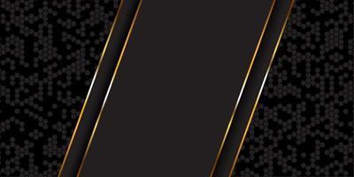 oro e sfondo nero vettore