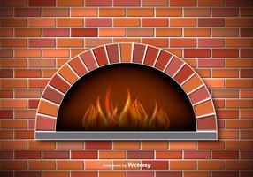 Vector Forno per pizza rustico