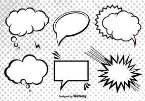 Fumetto vettoriale discorso bolle