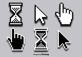Mouse Fare clic su Icone di vettore del cursore