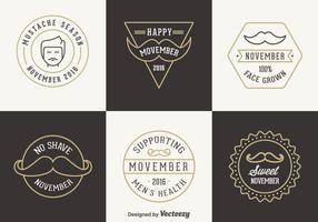 Distintivi vettoriali gratis di Movember