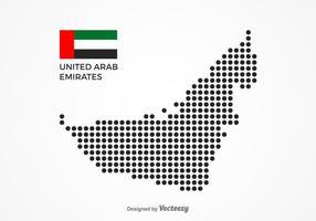 Vettore punteggiato libero della mappa degli Emirati Arabi Uniti