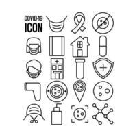collezione di icone 19 covid