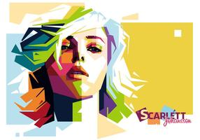 Scarlett Johansson Vector Portrait