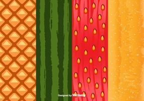 Vettore del modello della buccia di frutta
