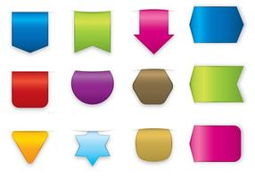 Adesivi colorati e vettori di etichette