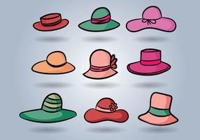 Vettore del cappello delle signore