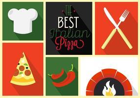 Icone di vettore di pizza