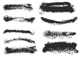 Set di tratti di pennello eroso vettoriali