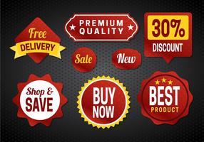 Vettore gratuito distintivi di vendita