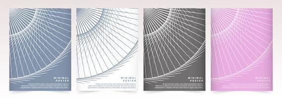 insieme del manifesto del modello del cerchio astratto geometrico colorato vettore
