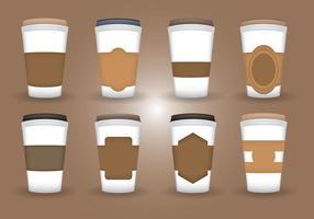 Vettore di manica caffè