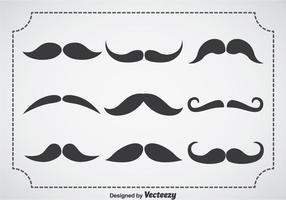 Set vettoriale di Movember Mustache