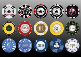 Vector Casino Chips