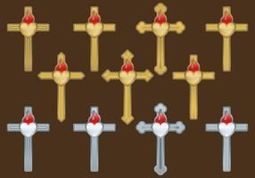 Vettori della croce sacra