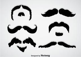 Vettori neri dei baffi di Movember