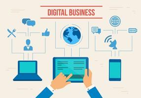 Vettore di affari digitali