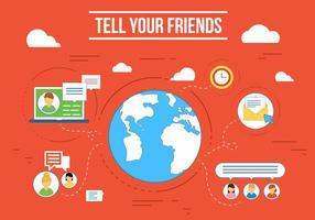 vettore gratuito di social media earth