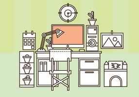 Set vettoriale gratuito di Home Office