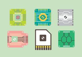 Icona # 2 di vettore della CPU libera