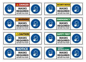 maschera richiesta set di segni