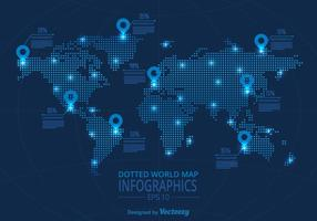Mappa del mondo vettoriale infografica