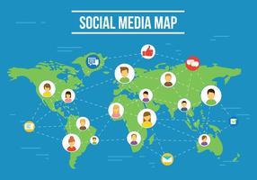 illustrazione vettoriale gratis social media