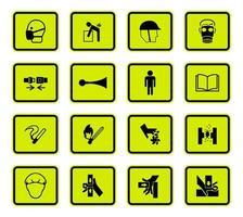 set di segnale di avvertimento quadrato arrotondato