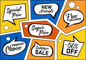 Fondo di vettore di vendita del libro di fumetti