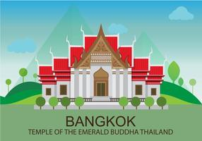 Tempio nell'illustrazione di Bangkok vettore