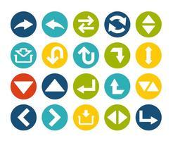 Set di icone freccia vettore