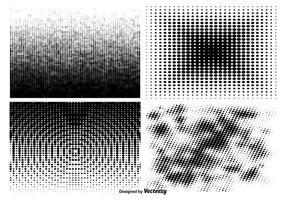Set di pattern mezzetinte vettore