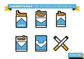 Pacchetto di sigarette Illustrazioni vettoriali gratis vol. 2