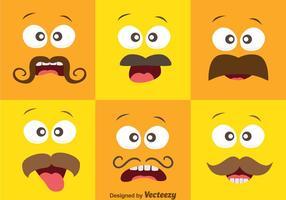 Espressione del viso con il vettore di baffi