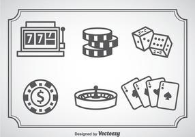 Icone di Casino Royale vettore