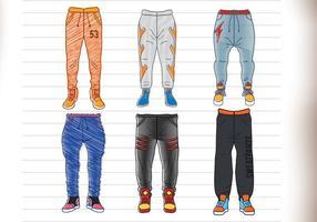 Pantaloni della tuta vettore