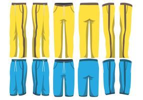 Pacchetto di pantaloni sportivi vettore