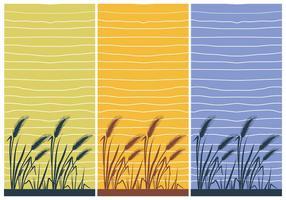 Illustrazione della carta da parati del riso del vettore della casa