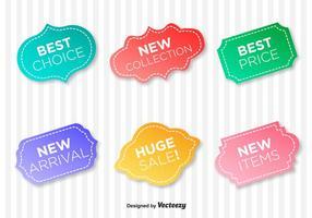 Etichette vettoriali di garanzia di qualità