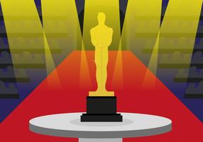 Vettore dell'illustrazione dei premi della statua di Oscar