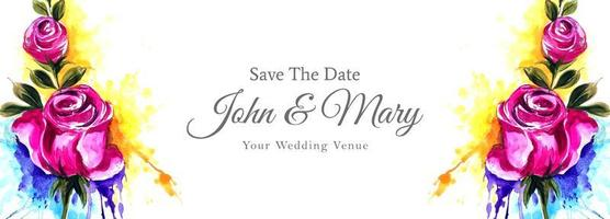 matrimonio colorato luminoso floreale salvare il banner data