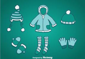 vettore di cappotto invernale
