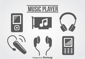 Vettore delle icone del lettore di musica