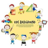 cerchia di bambini per tornare a scuola